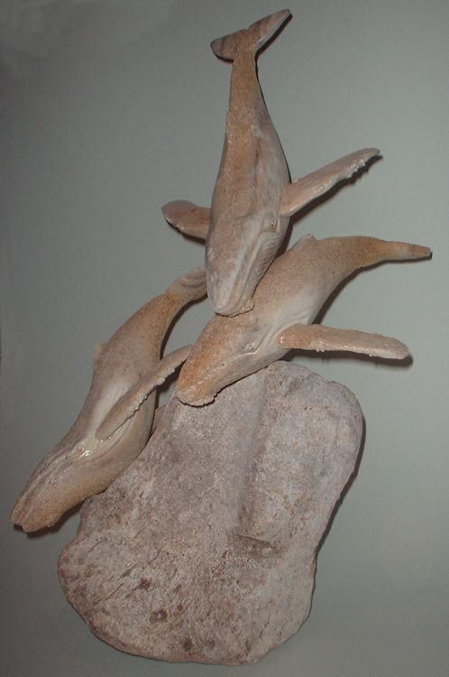 Whalebone carving or sculpture